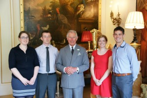Keira Tedd, David Johnes, HRH The Prince of Wales, Jackie Hamilton and Ross Hobbs