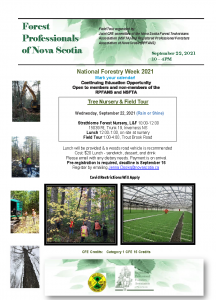 Forest Professionals Field Tour Sept 22 2021