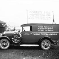 Forest Fire Prevention Lecture CarCanadian Forestry Association Forest Fire Prevention Lecture CarForest protection is my business, your business, and mighty good business.This photo was taken in Vancouver in 1928. See more photos at the City of Vancouver Archives.