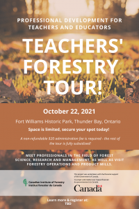 Forestry Teachers Tour Poster